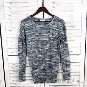 [Calvin Klein] Spacedye Pieced Crewneck Sweater